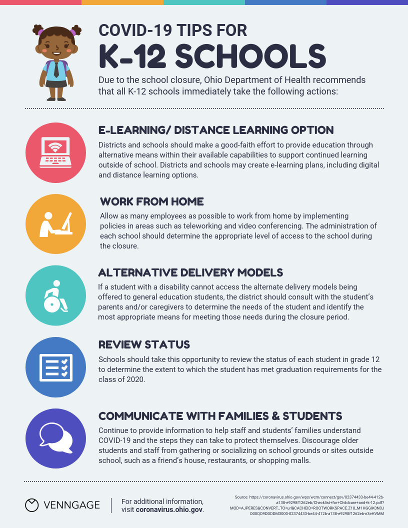 Schools Tips List Infographic Template