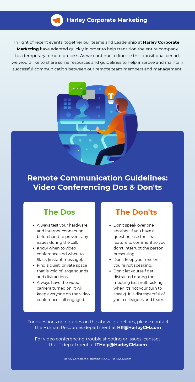 Video conferencing guide email newsletter template