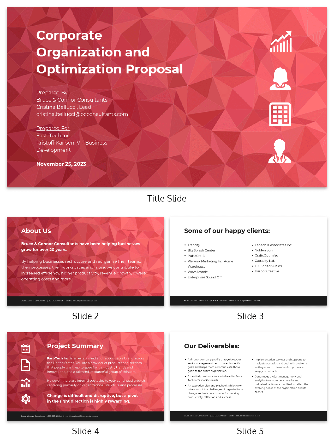 Abstract Business Presentation Consulting Proposal Template