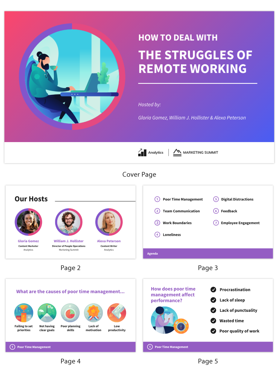 What is a webinar Remote work struggles presentation template