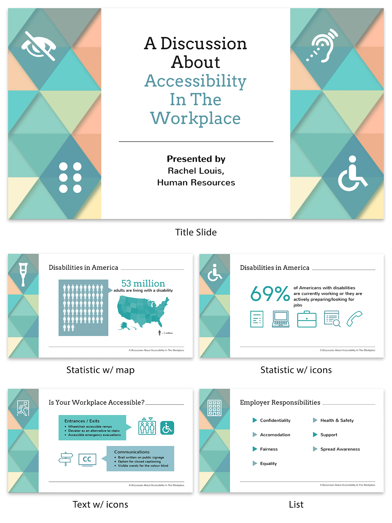 What is a webinar Accessibility Workplace presentation template