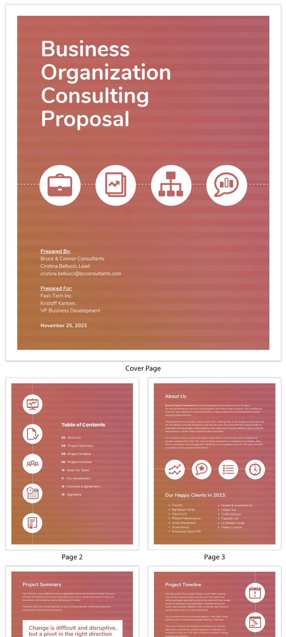 Organizational Consultant Proposal Template