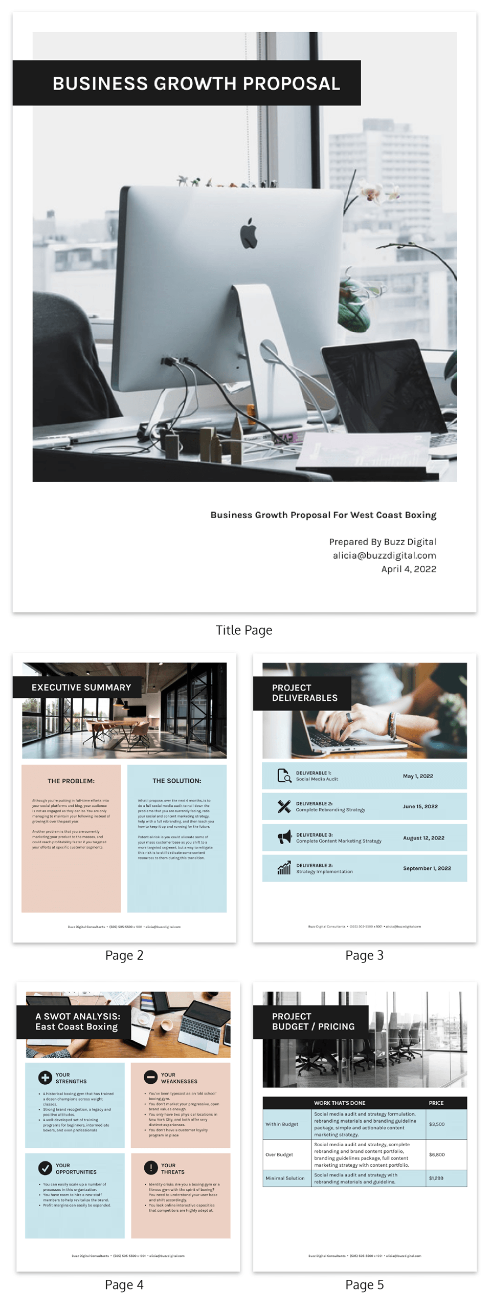 Simple B2C Consulting Proposal Template