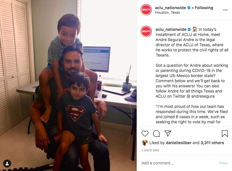 ACLU Storytelling Post IG