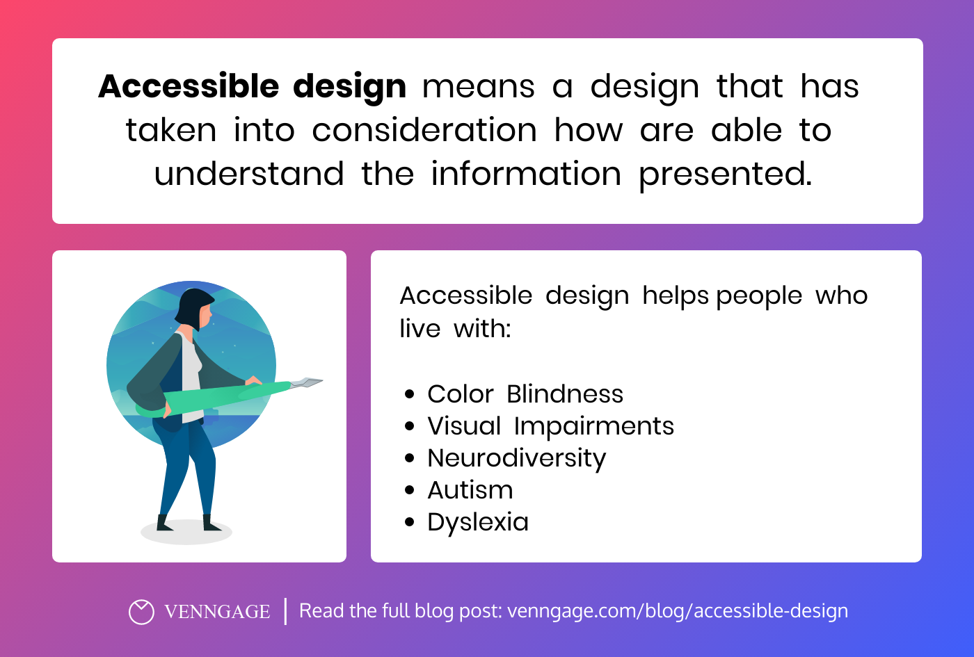 Accessible design infographic