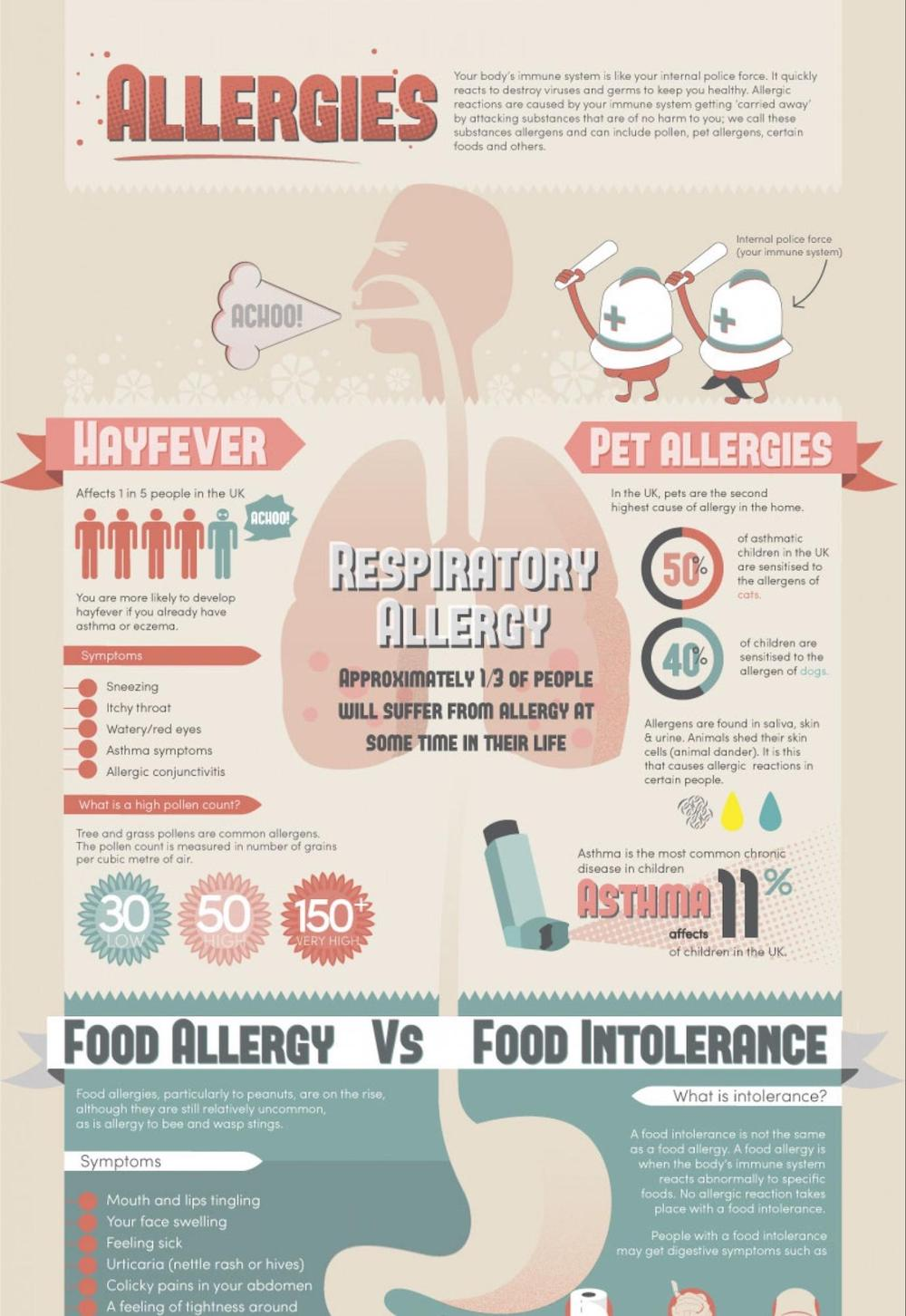 Allergy Fact Sheet Infographic Idea2