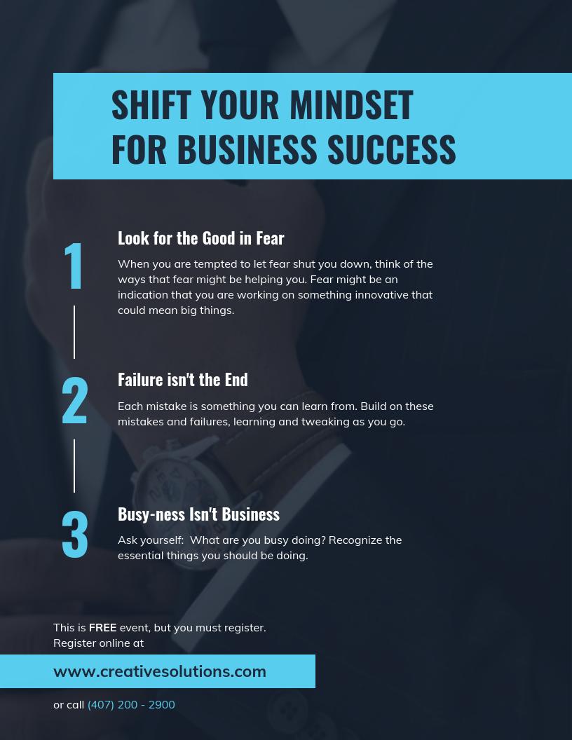 Business Success Mindset Flyer Template