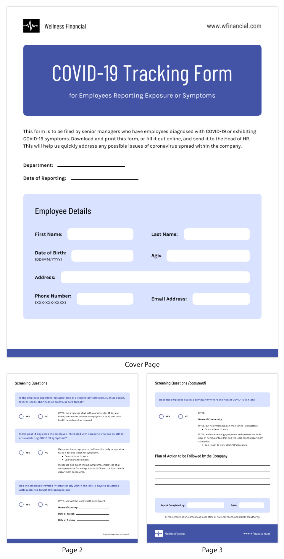 COVID-19 Employee Incident Report Template