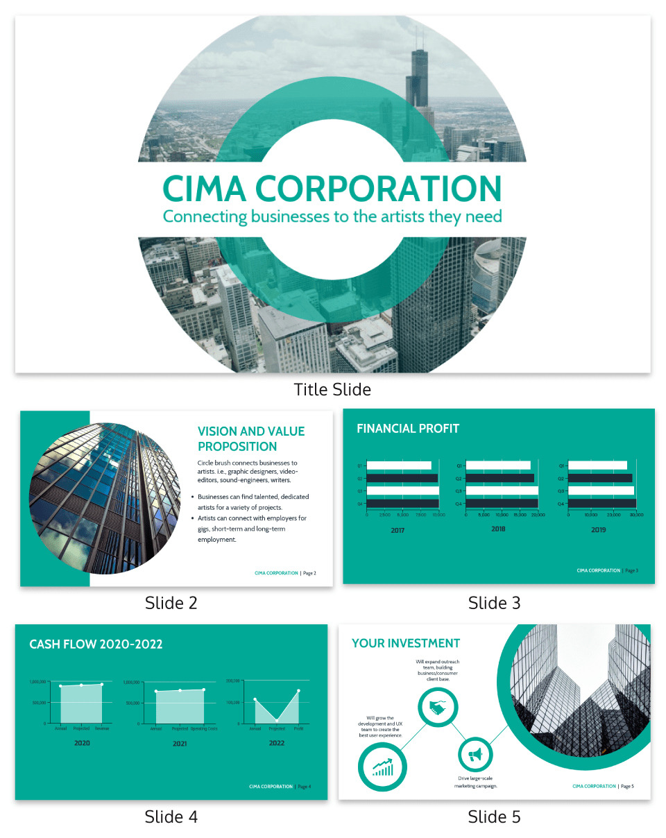 Circle Corporate Pitch Deck Template
