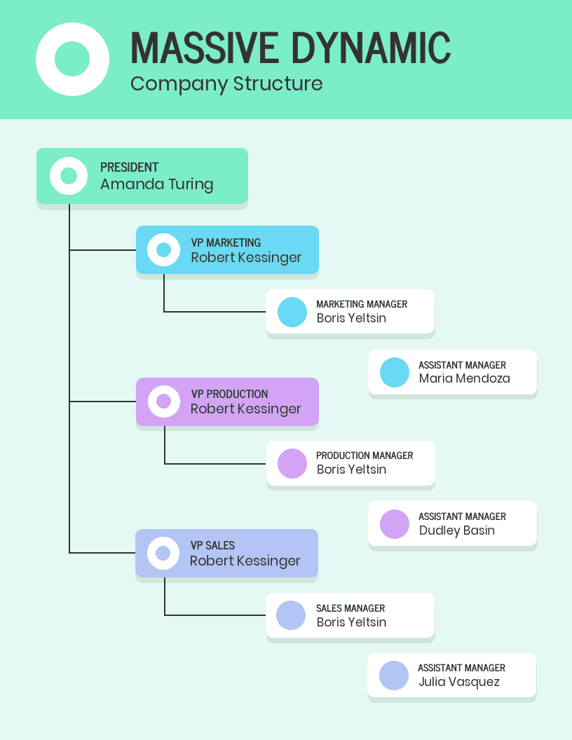 Colorful Company Structure Infographic Idea