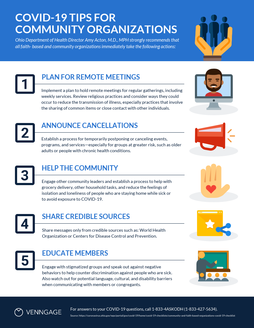 Community Organization Tips List Free Infographic Template