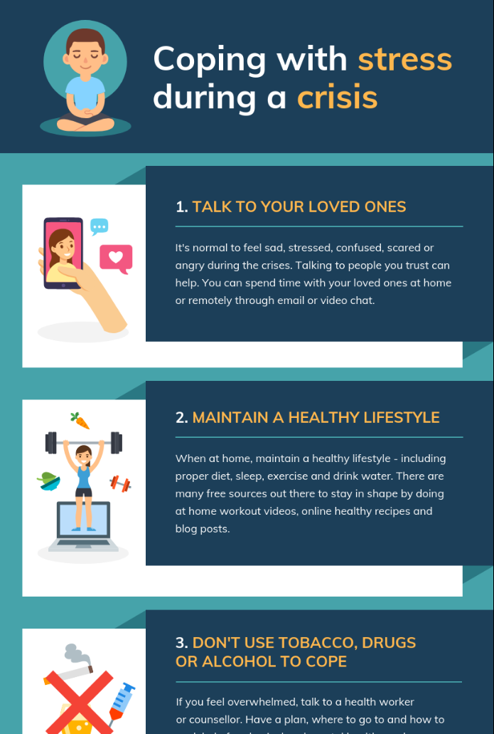 Coping With Stress List Infographic Template1