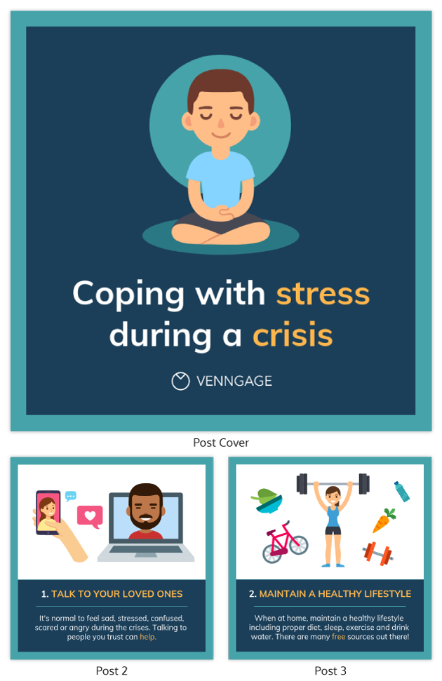 Coping With Stress List Infographic Template2