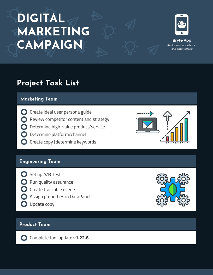 Digital Marketing Campaign Checklist Infographic Idea