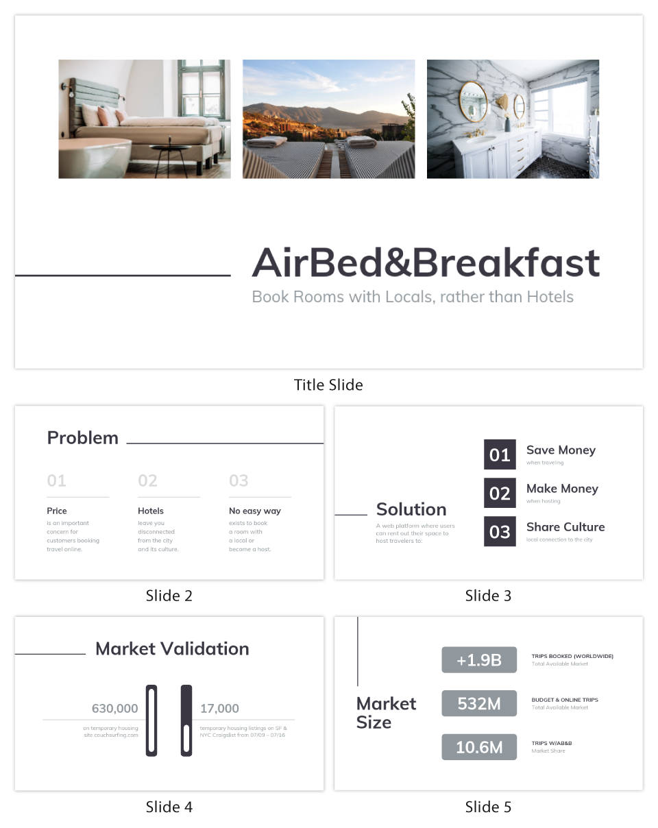Minimalist Airbnb Pitch Deck Template