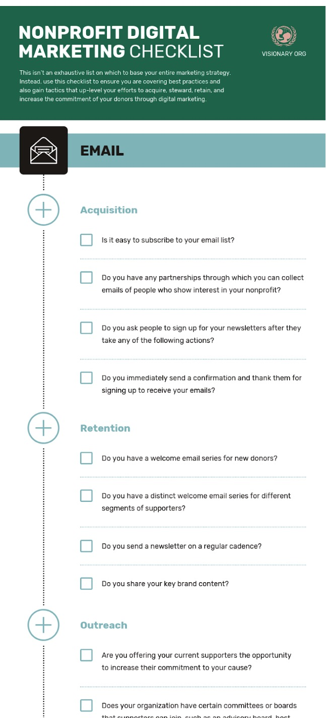 Nonprofit Marketing Checklist Infographic Template