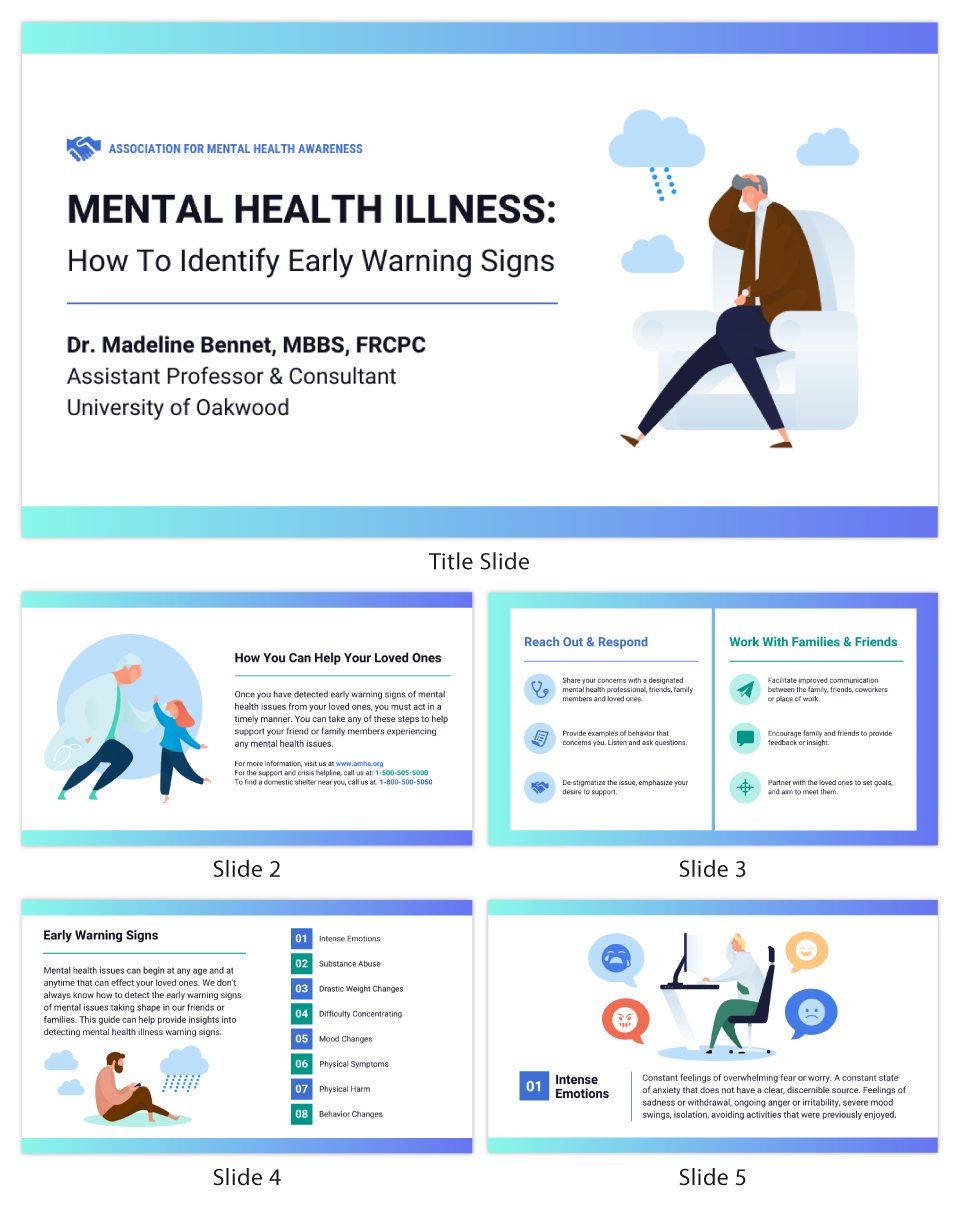 Nonprofit Mental Health Presentation Template