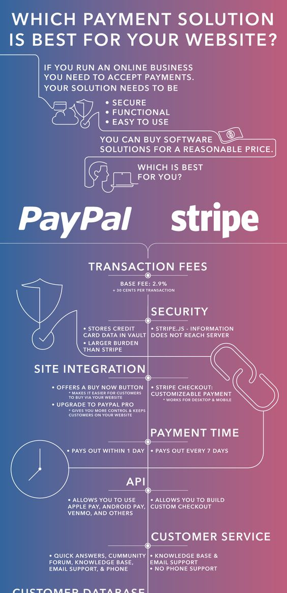 Paypal vs. Stripe Comparison Infographic Idea
