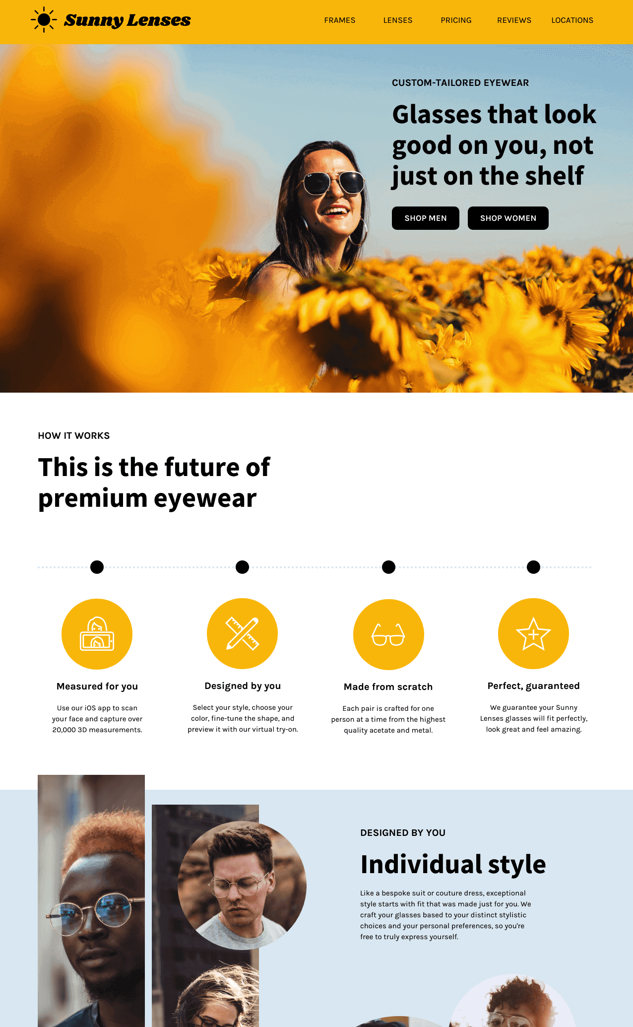 Product Landing Page for Website Marketing