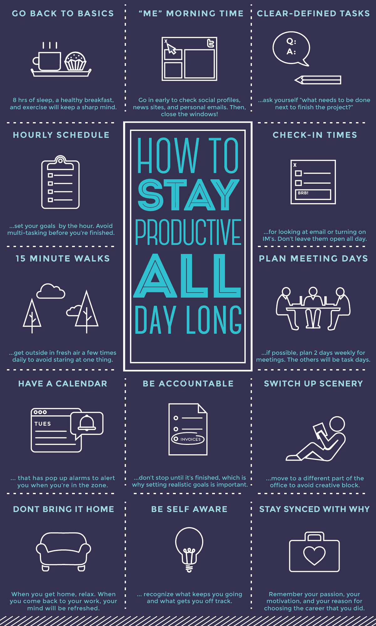 Productive Employee Tips Infographic Idea