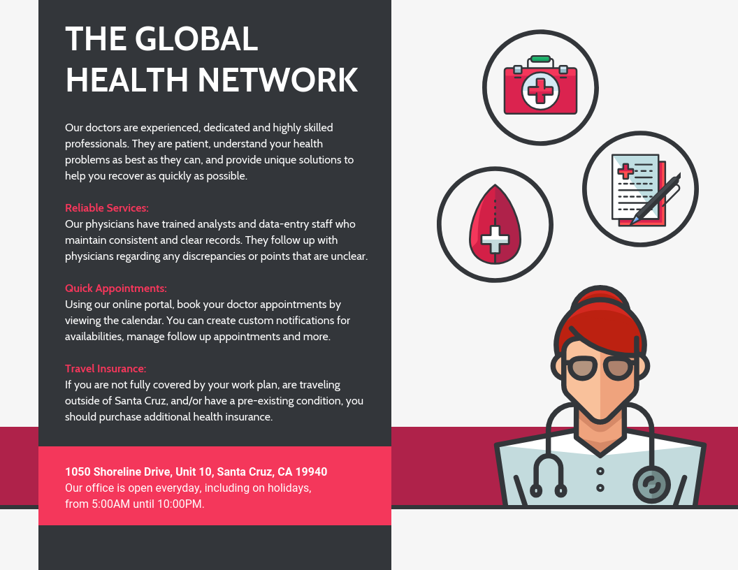 Red Medical Health Business Flyer Template