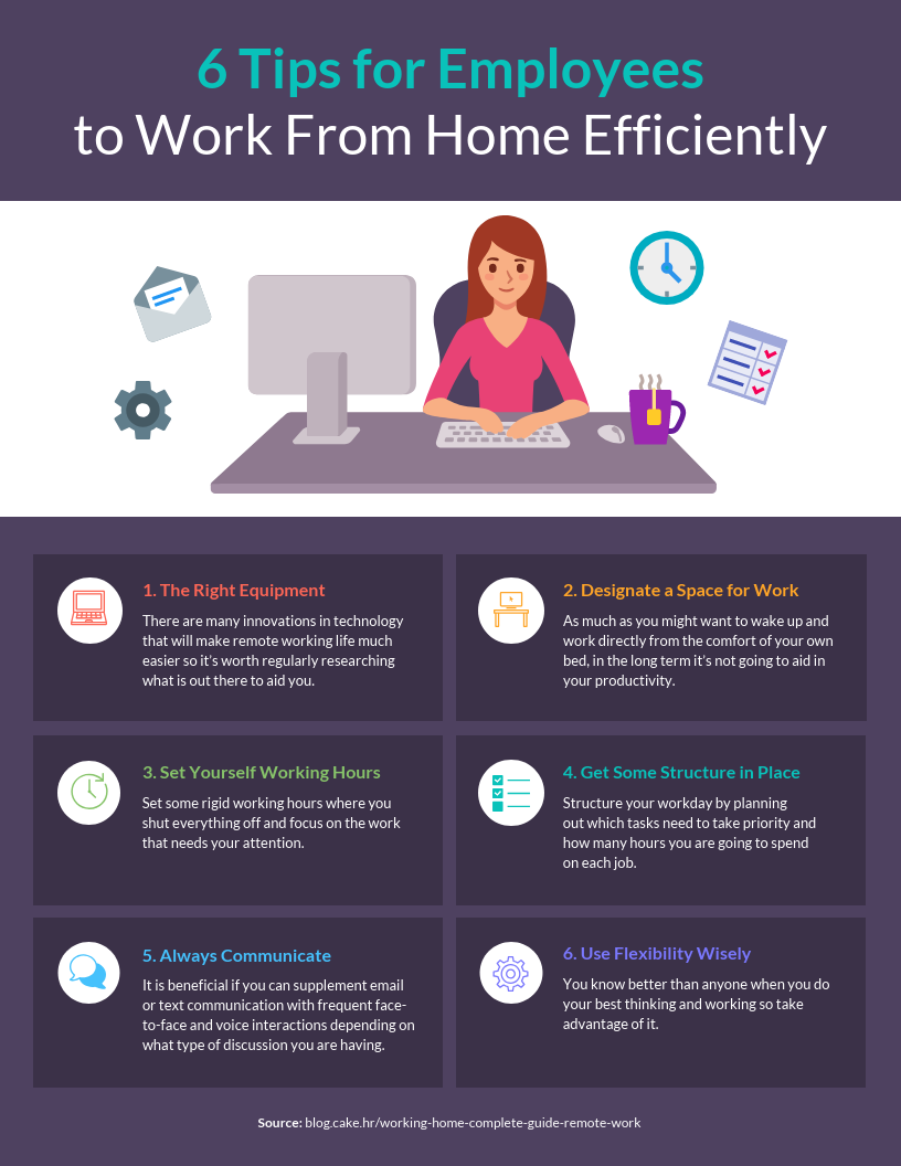 Remote Working Tips Infographic Idea