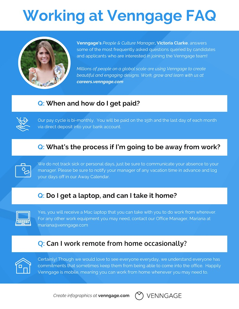 Simple Company FAQs Infographic Idea