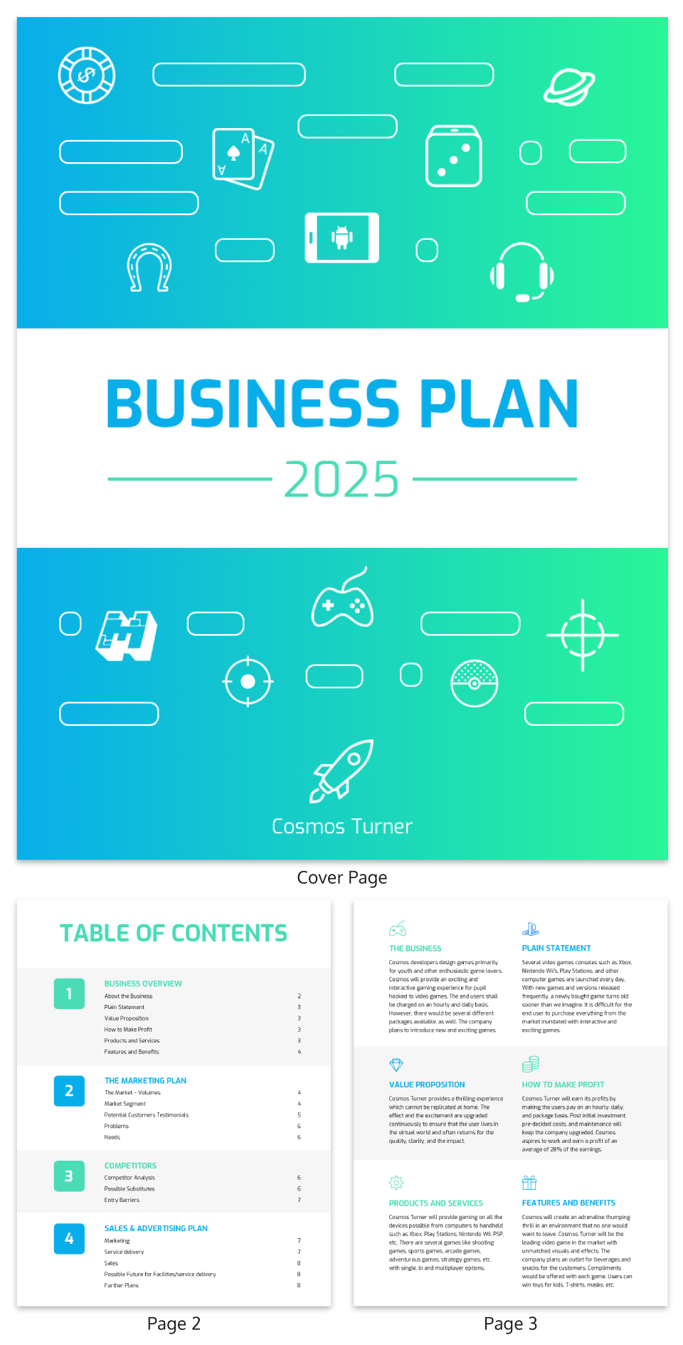 Simple Gaming Business Plan Template