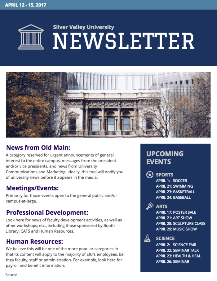 University Newsletter Template