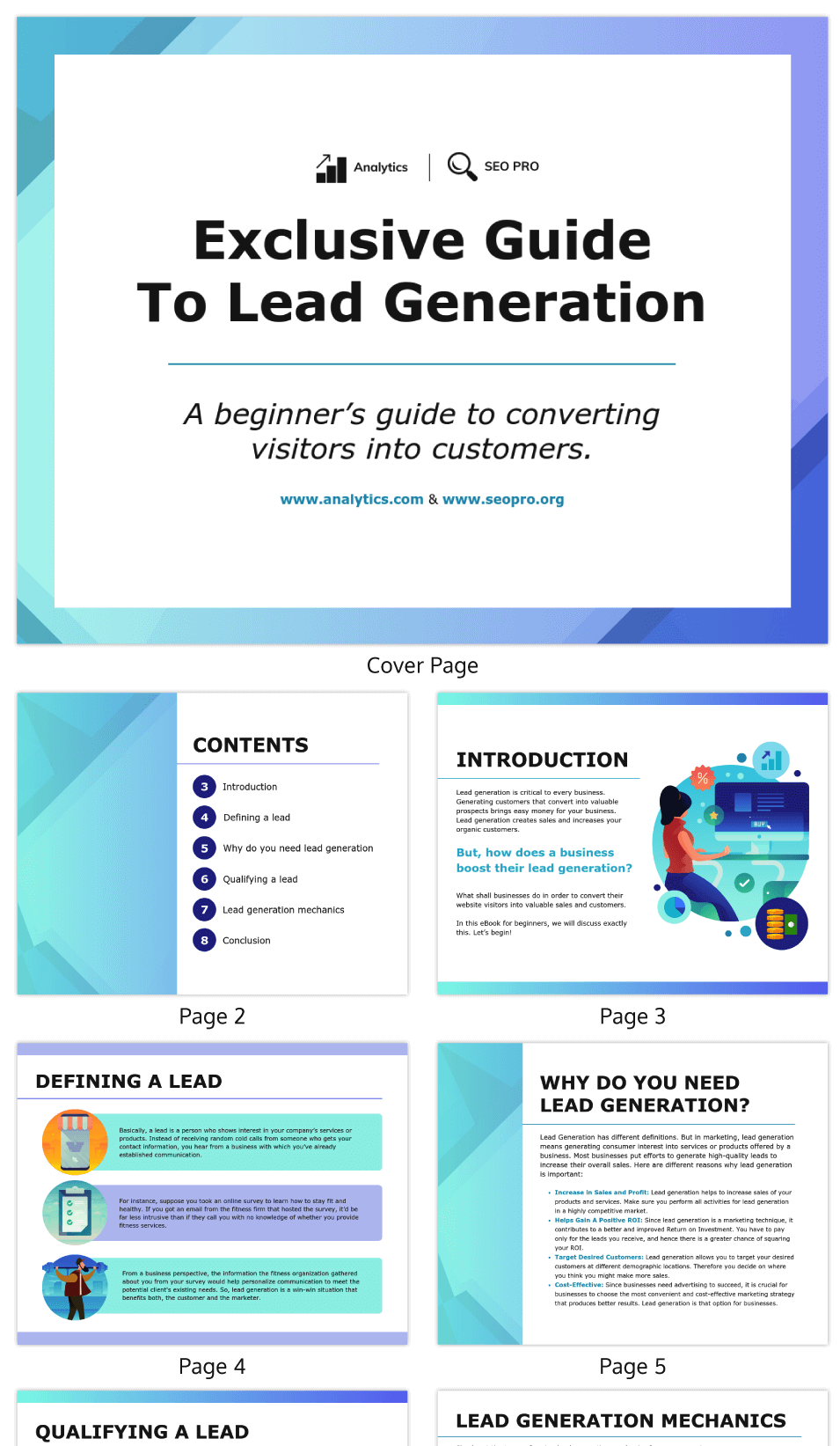 Gradient Marketing Lead Magnet eBook Template
