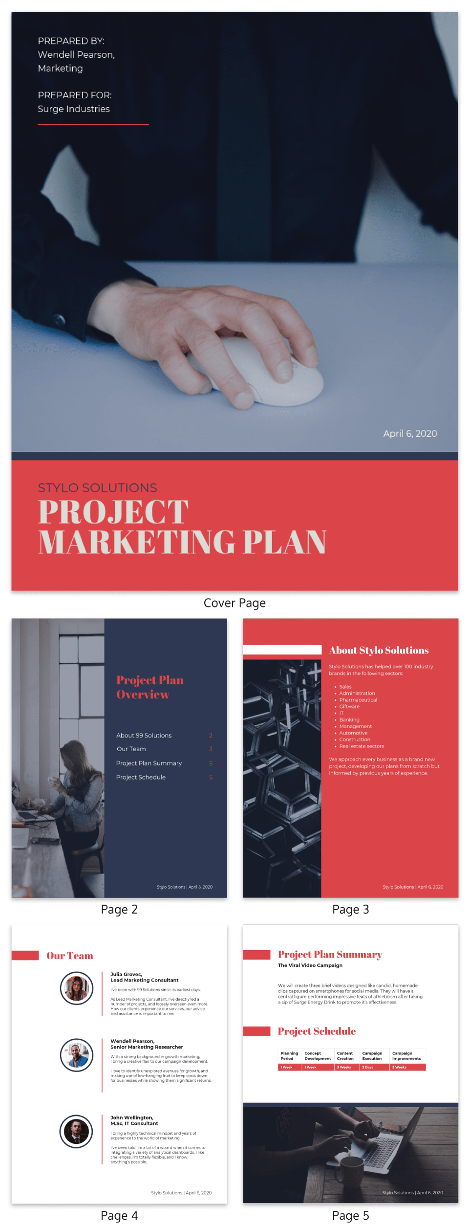 Project Marketing Management Plan Template