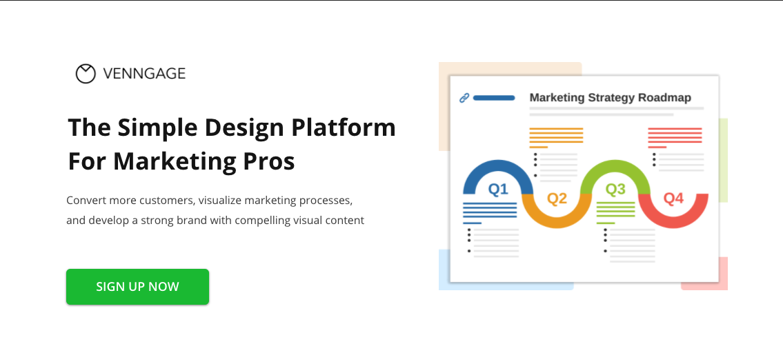 Venngage for Marketers Page Header