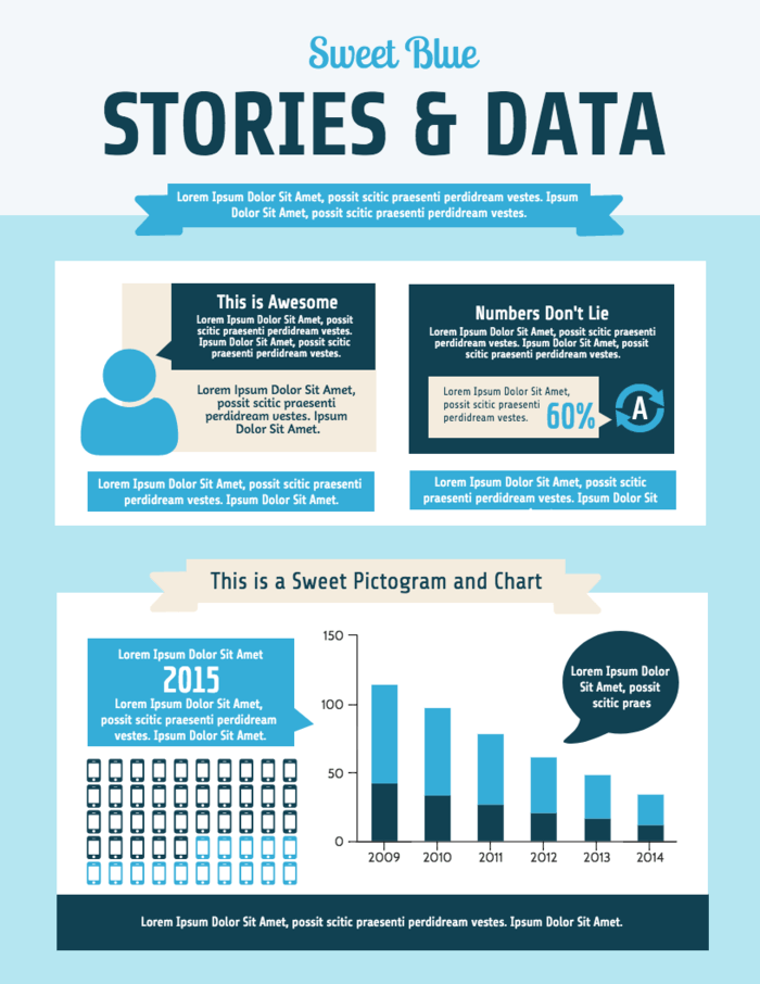 Survey Data Infographic Report TemplateSurvey Data Infographic Report Template