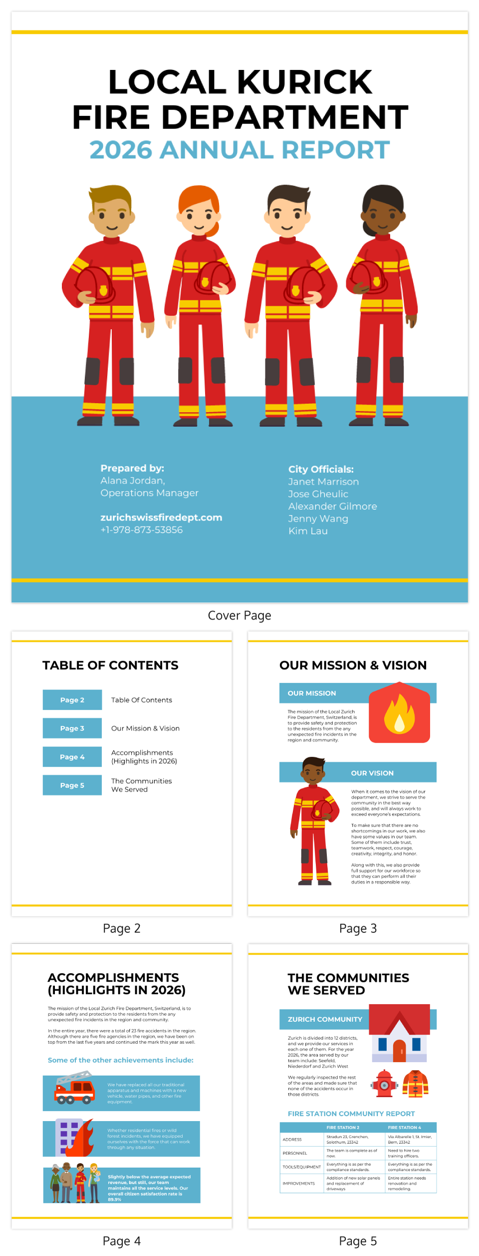 Fire Department Annual Report Template