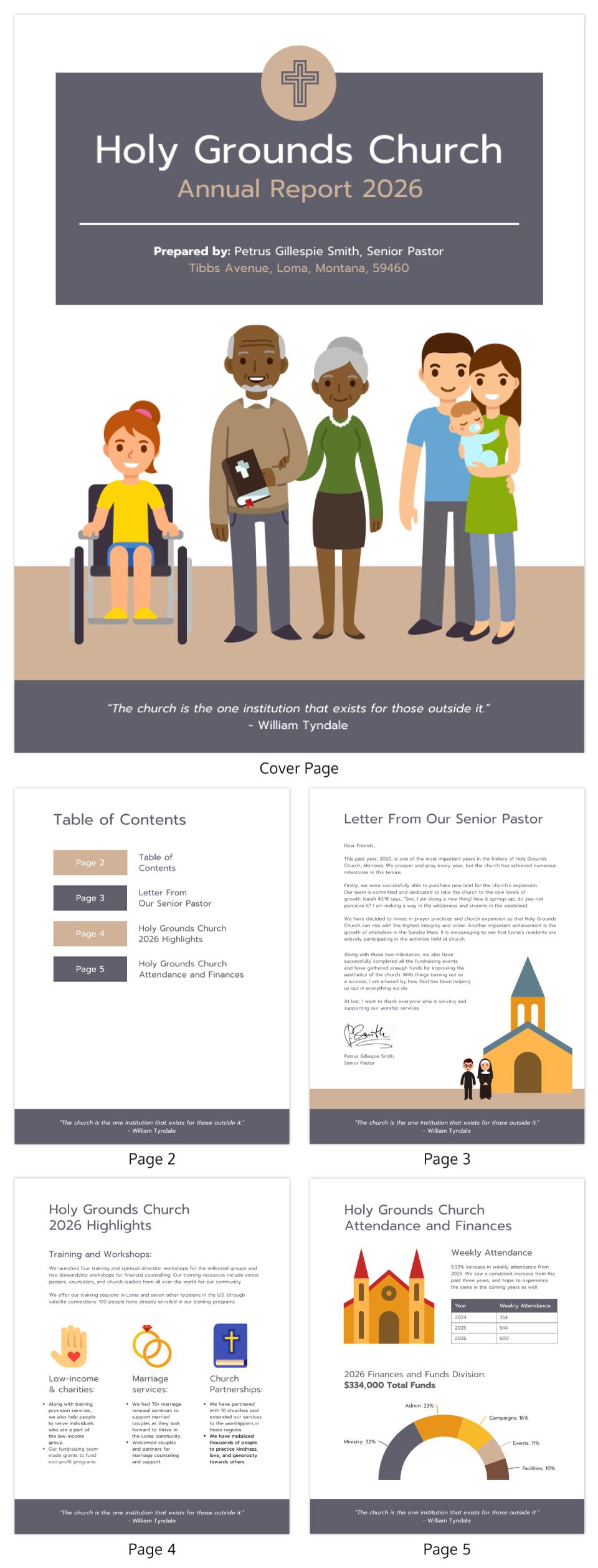 Illustrative Church Annual Report Template