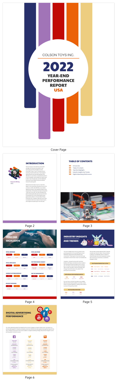 Retro Annual Report Template