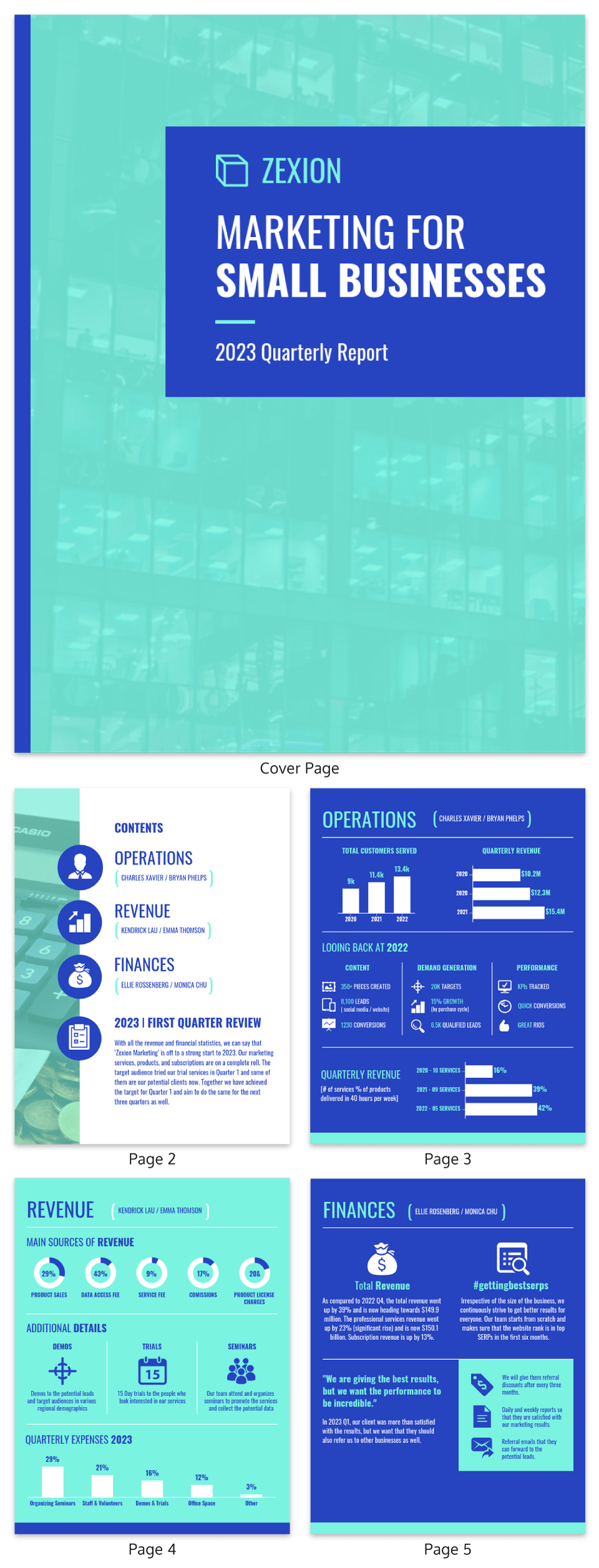 Vibrant Small Business Report Template