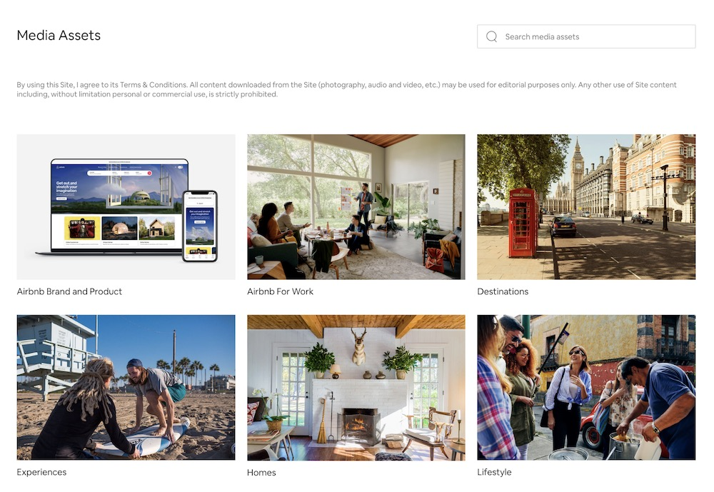 Airbnb Brand Assets Guide Example