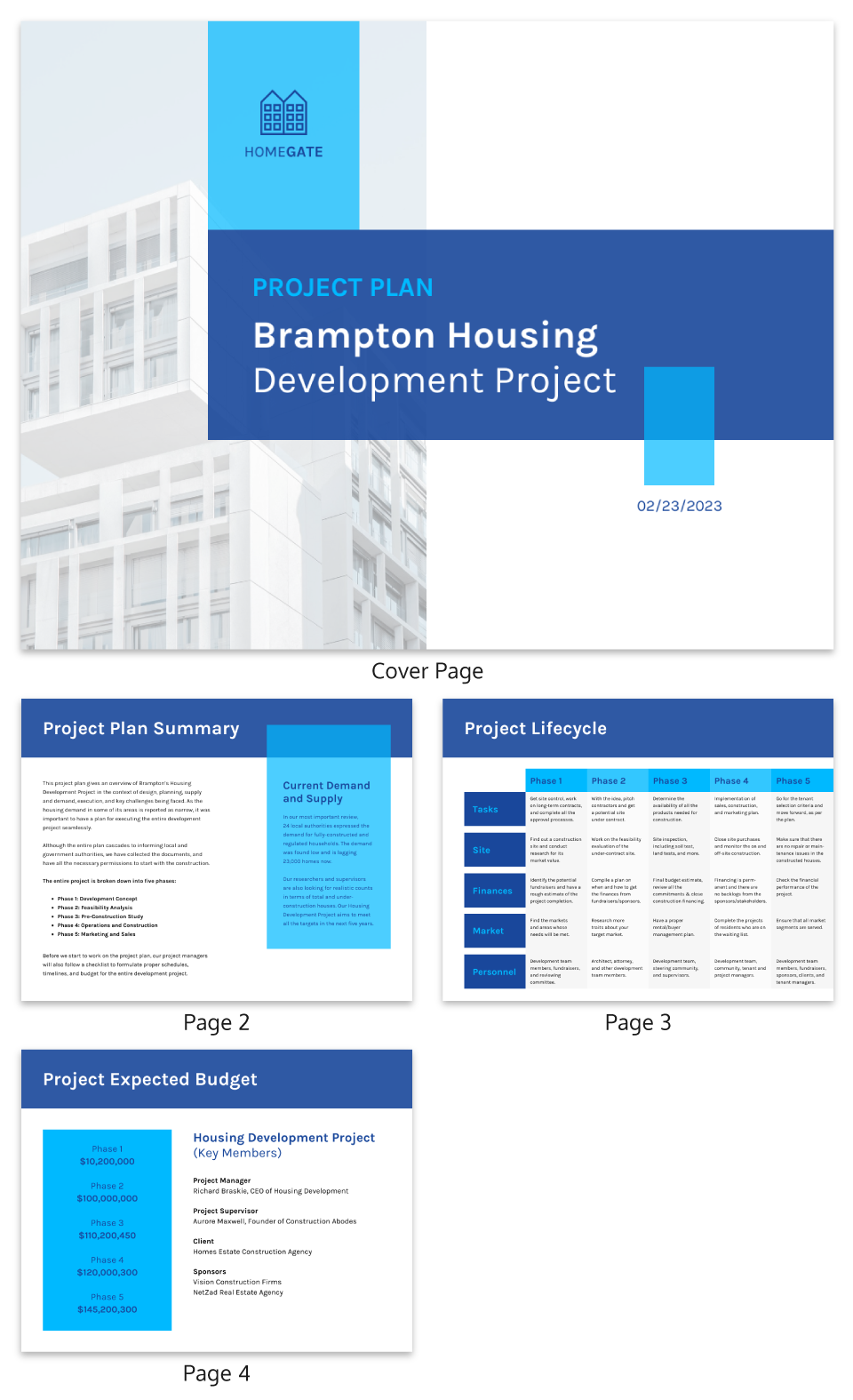 Blue Grid Housing Project Plan Template