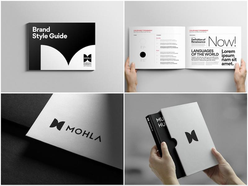 Bold Black & White Nonprofit Brand Guidelines Examples