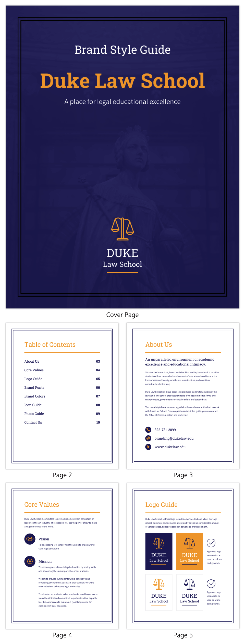Classic Professional Law Brand Guidelines Template