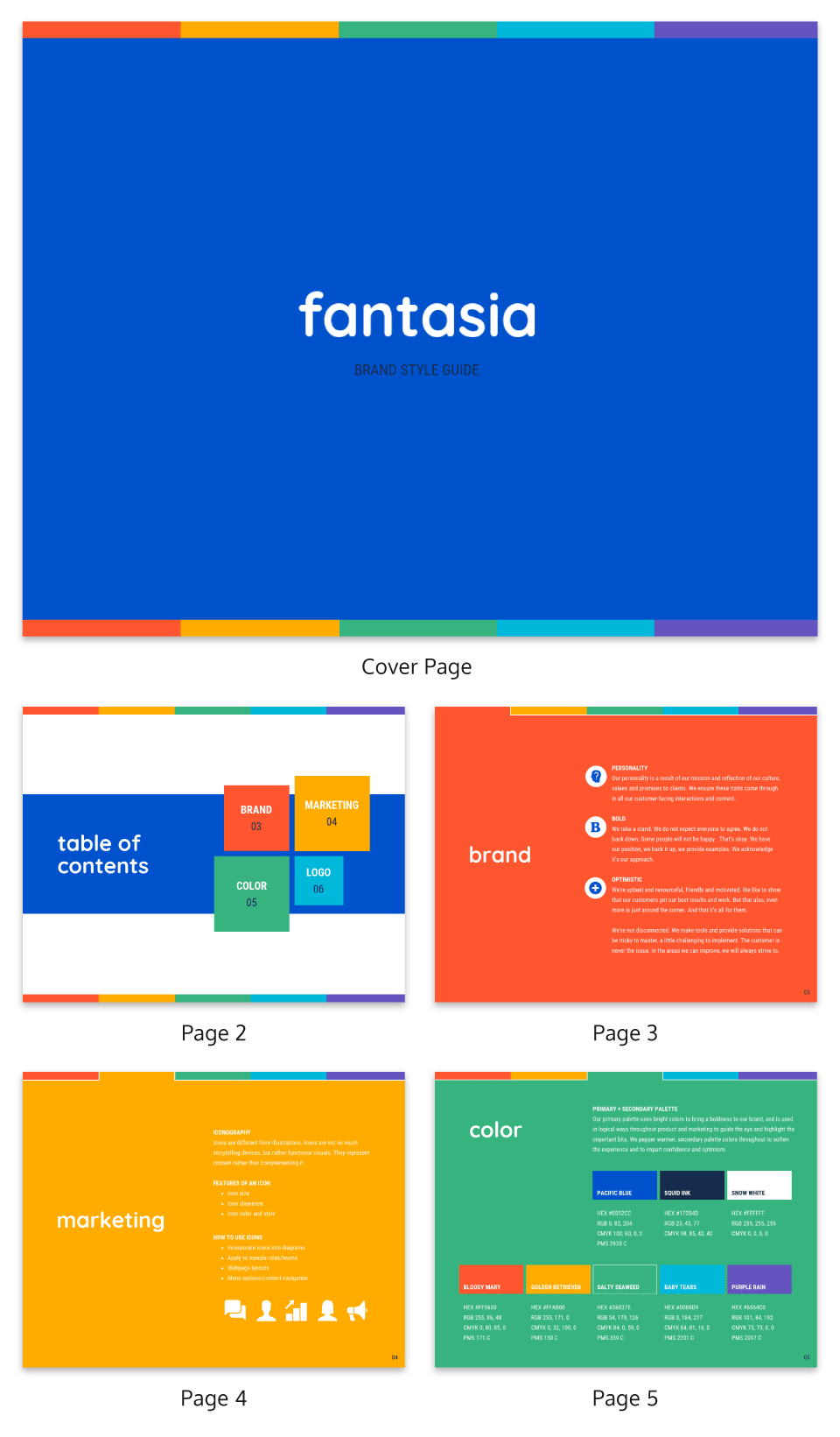 Colorful Small Business Brand Guidelines Template2