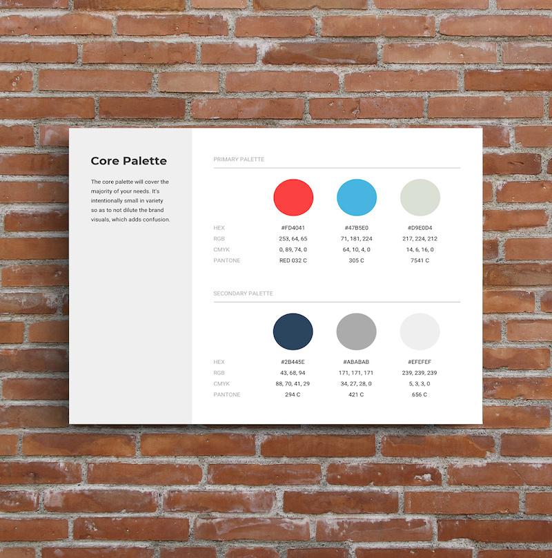 Core Color Palette Brand Guide Template 2