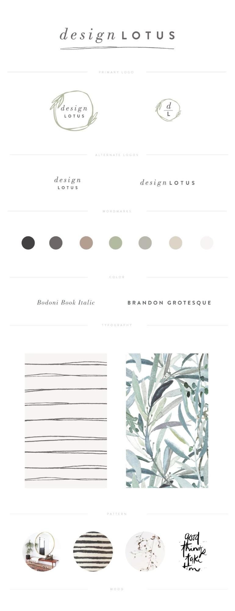 Creative Minimalist Brand Guide Example
