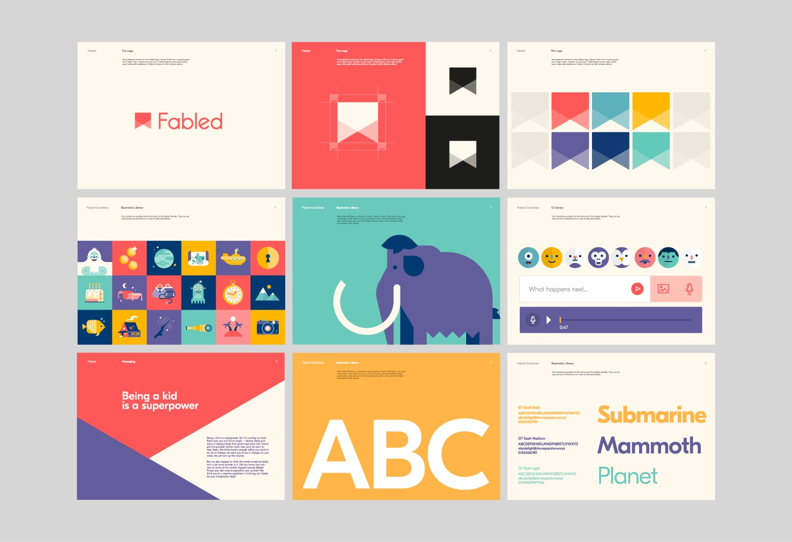 Fun Illustrated Branding Guidelines Example
