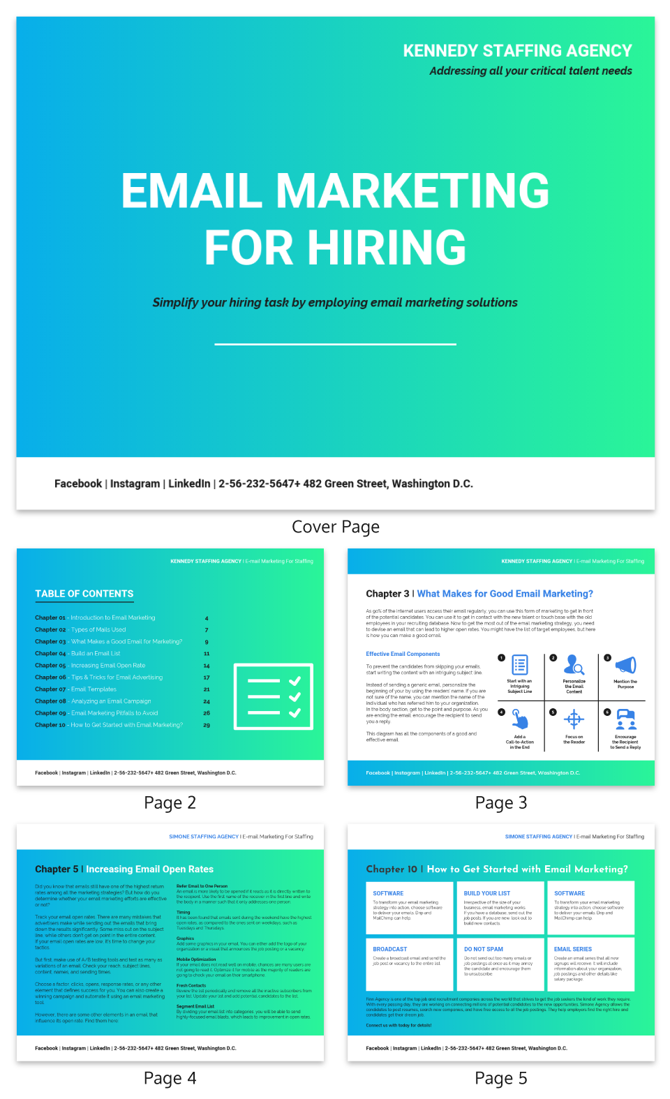 Gradient Email Marketing White Paper Template