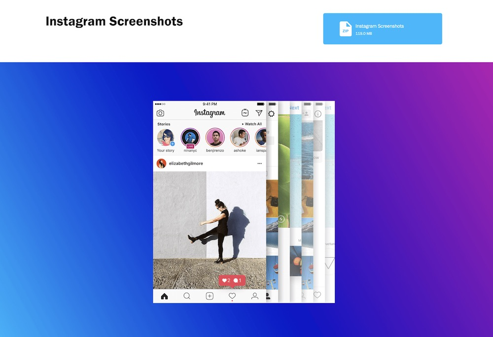 Instagram App Brand Style Guide Example