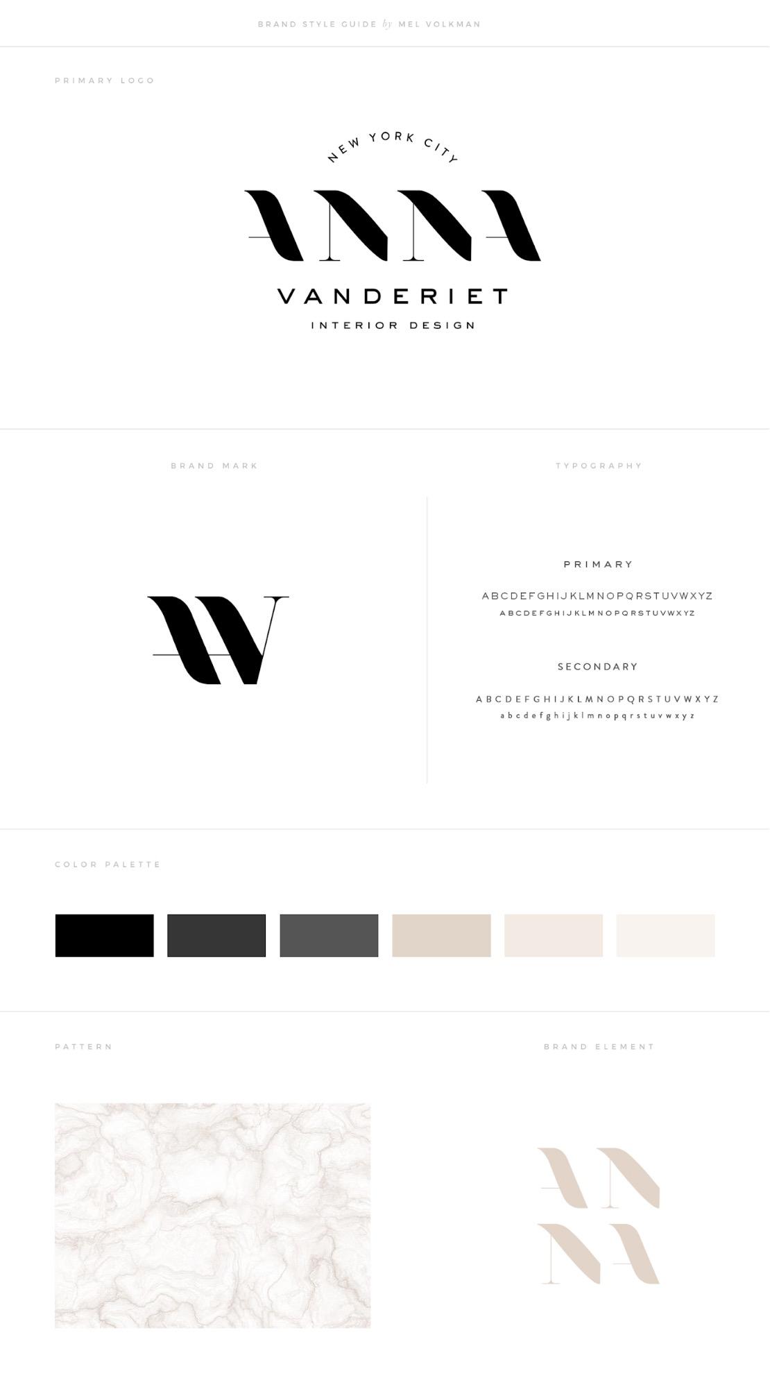 Minimalist Interior Design Brand Guide Example