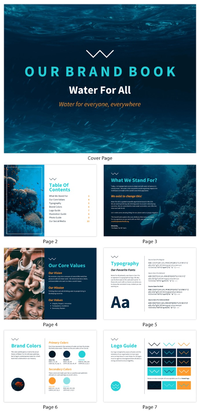 Modern Nonprofit Brand Style Guide Template