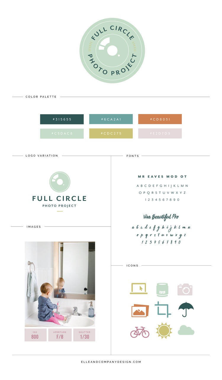 Muted Photography Brand Style Guide Example